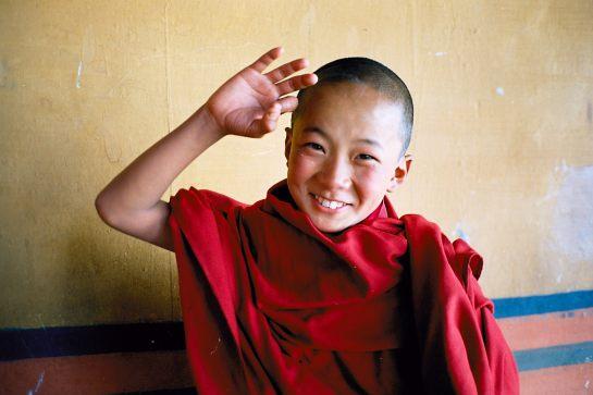 Novice monk, Bhutan - 1986