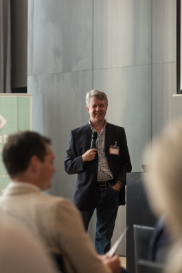 Charlie Pownall speaking at Meltwater Gold, Amsterdam - May 2016