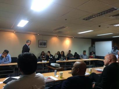 Charlie Pownall speaking at Amcham Philippines, June 2016