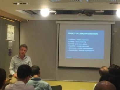 Charlie Pownall speaking at Paperclip Start-up Campus, Hong Kong